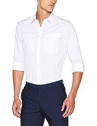 KUSTOM KIT Pilot L/S, Camisa de Oficina para Hombre