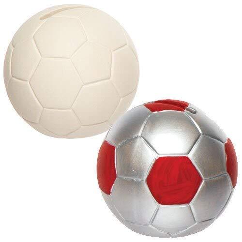 """Baker Ross Keramik-Spardosen \""""Fußball\"""" für Kinder zum Bemalen und Dekorieren - Porzellan-Bastelset für Kinder (2 Stück)"""