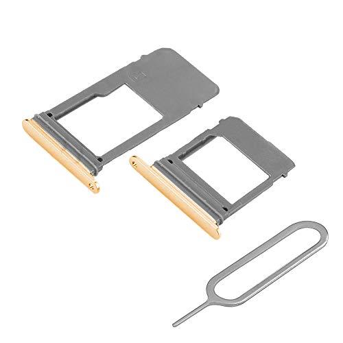 MMOBIEL Set 1 Tarjeta SIM y 1 Bandeja de Tarjeta SD Compatible con Samsung Galaxy A5 / A7 2017 (Oro) Incl. Sim Pin