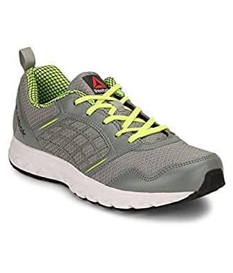 Reebok Men's Flat Grey, Ash Grey, Yellow and White Road Rush Running Shoes - 4 UK/India (37 EU)(6.5 US)
