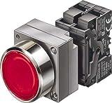 Siemens sirius - Aparato completo redondo pulsador luminoso boton rasante 1na azul