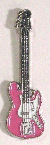 Métal Émail Badge à épingle broche Musique Rock Guitare électrique FENDER en rose