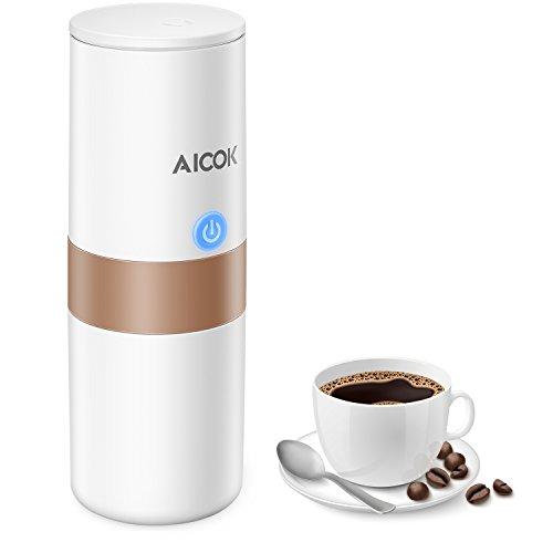 Aicok Kaffeemaschine Notebook, 150ml Mini Espresso-Maschine elektrisch Kompatibel mit Filter,...