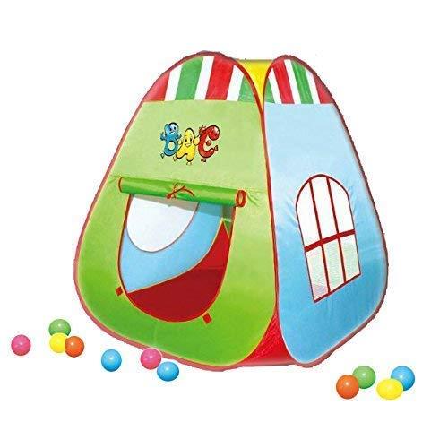 Spielzelt mit 50 Bällen | Bällebad für Kinder | Zelt für drinnen und draußen