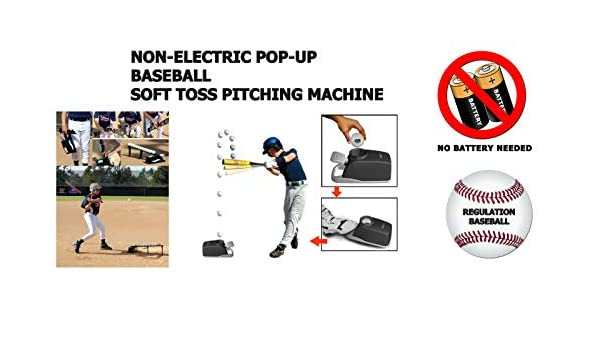 non-Electric Soft Toss Pop Up Baseball Pitching Machine T-BALL Batteur Tee