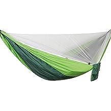 DaiHan Camping Hamaca con Cremallera mosquiteros Multi-Funcional al Aire Libre Pop-out Hamaca