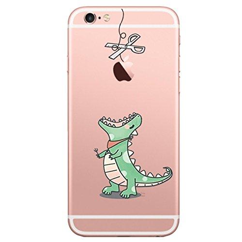 Carcasa iphone 6 6s Qissy® TPU Transparente Funda Cubierta de Silicona de ultra delgado impresión de estuche Carcasa Trasera Para Apple iphone 6/6s 4.7 pulgadas