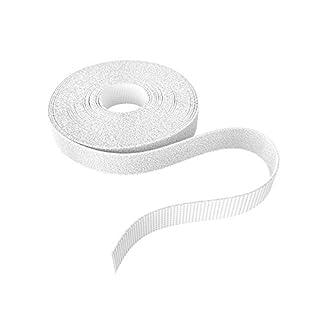 KabelDirekt - Klett Kabelbinder - 12,5mm x 10m - (Rolle für Kabel, frei zuschneidbar, weiß)