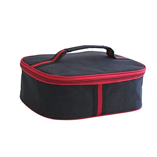 CBWZDJZDS Platte Isolierung Paket Student Mit Reis Lunch Bag Dicke wasserdichte Lunch Bag 28.5X22.5X10Cm Schwarz -