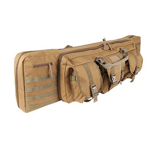 LUVODI Waffentasche Gun Bag Futteral Gewehrtasche mit Doppelfach & 3 GroßeZubehör Beutel 100 X 30 cm 42 Zoll