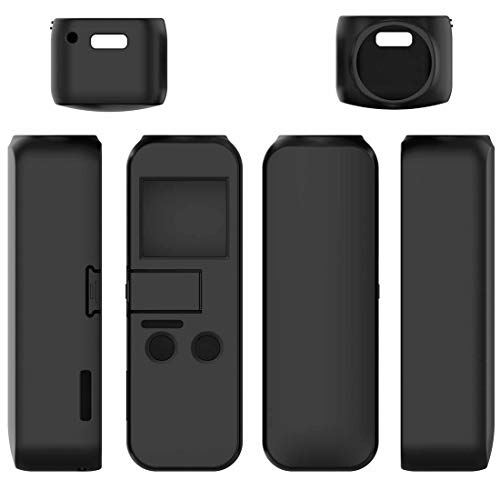 MOTONG Protective Silicone Case Cover Shell for DJI Osmo Pocket, Soft and Durable(Silicone Black)