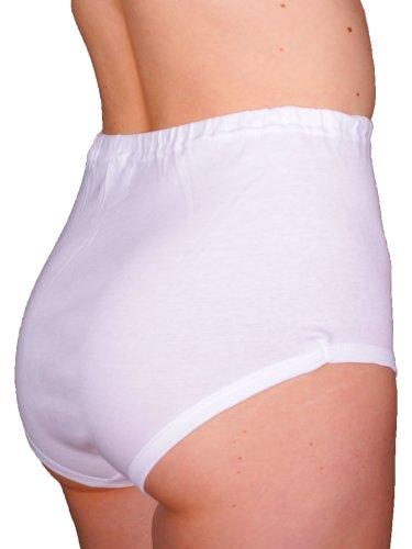3er Pack Damen Taillenslip ohne Seitennähte mit BW Spitze (Schlüpfer, Unterhose) weiß Chlorfrei (145/3) - 2