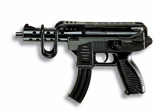 Edison Giocattoli Uzimatic: Spielzeugpistole für das Polizeikostüm, ideale Agenten-Ausrüstung, für 13-Schuss-Munition, in Box, 50.5 cm, schwarz (E0266/44)