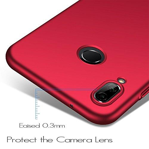 hahuha  Für Huawei P20 Lite Luxury Matte Slim Dünne Weiche Silikon TPU Schutzhülle (Rot)