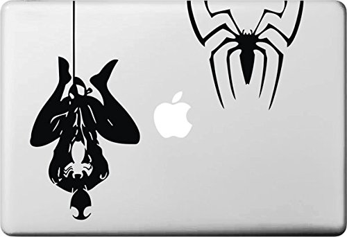 Vati fogli smontabili Creativo di Spider-Man e Spider Decal Sticker Art nero per Apple Macbook Pro Air Mac 13