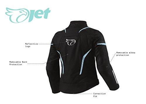 JET Motorradjacke Damen Textil Wasserdicht Winddicht Mit Protektoren - 6