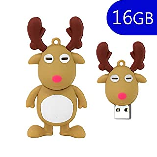 AcGoSp 16 GB Weihnachtsdeko Elch USB Flash Drive
