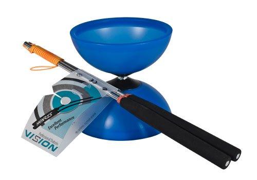 Henrys J04050-08 - Yo-Yo, Diabolo Vision Set, inklusive Handstäbe, blau