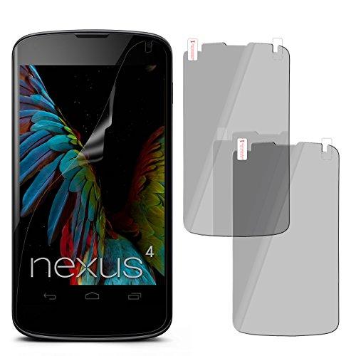 moex 2X LG Google Nexus 4 | Spiegelfolie Display Schutz verspiegelt [Mirror] Screen Protector Handy-Folie Displayschutz-Folie für LG Google Nexus 4 Schutzfolie vorne Spiegel