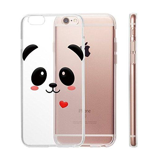 Pacyer® iPhone 6 Plus/6S Plus Custodia Panda TPU Gel Protettivo Skin Shell Case Cover Per Apple iPhone 6 Plus/6S Plus (5,5) 4