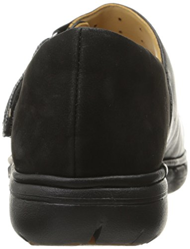 Clarks Un Swan Mary Jane Flat Black Combination Leather