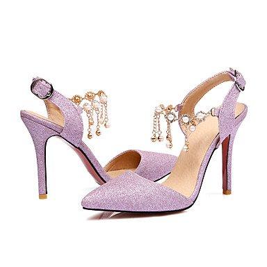Talloni delle donne Primavera Estate Autunno Wedding sintetica di feste ed abito da sera tacco a spillo Perla Rosa Argento Nude Pink