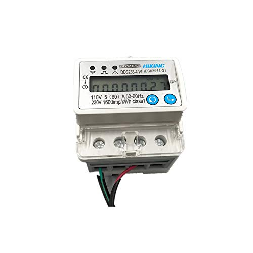 DLQHWY Leistungsschalter 5(60) A 110V 230V 50Hz 60HzSingle Phase Din Rail Wifi Smart Energy Meter Over And Under Voltage Current Protection