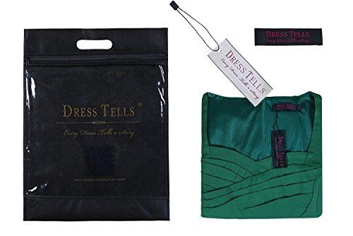 Dresstells, robe courte de demoiselle d'honneur avec nœud sans manches col en V Lavande