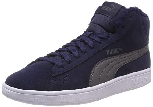 Puma Unisex-Kinder Smash V2 MID FUR JR Hohe Sneaker, Blau (Peacoat-Iron Gate 01), 39 EU - Mid Sneakers Mädchen