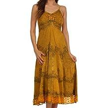 Sakkas - Vestido largo con tirantes finos ajustables decorado con tachuelas