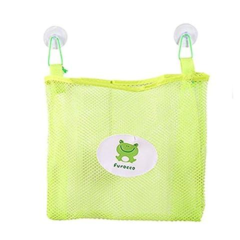 Sac de rangement, Mml® Bébé Enfants de bain Sac de rangement temps bien Rangé jouet Ventouse en maille filet Organiseur de salle de bain Net Green