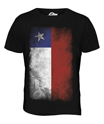 CandyMix Chile Verblichen Flagge Herren T Shirt Schwarz