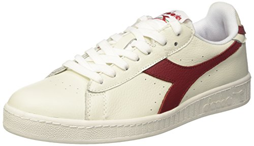 Diadora Chaussures Game Low White Bordeaux h17 Blanc Cassé (Bianco/rosso Peperoncino/bco)