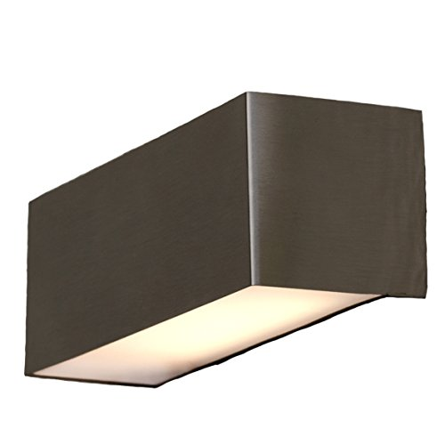 Eco Light Moderne LED-Außenwandleuchte Gemini, Edelstahl, 300 Lumen, 5 W, rechteckig 21 x 7 cm, IP44 ST 791 LED