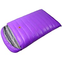 Obert doble personas sobre sacos de dormir 1800 g blanco plumas de pato impermeable Camping senderismo