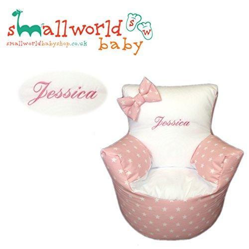 personalisierbar Mädchen pink star Kleinkind Sitzsack