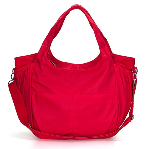 Mefly Spalla Portatile Unico Big Bag Mummia Bag Borsa Di Tela A Grande Capacità Rosso Opaco Dull red