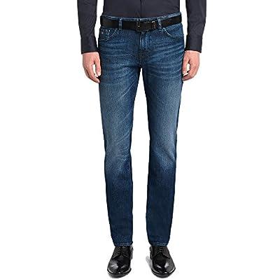 Hugo Boss Blue Washed Stretch Denim Jeans