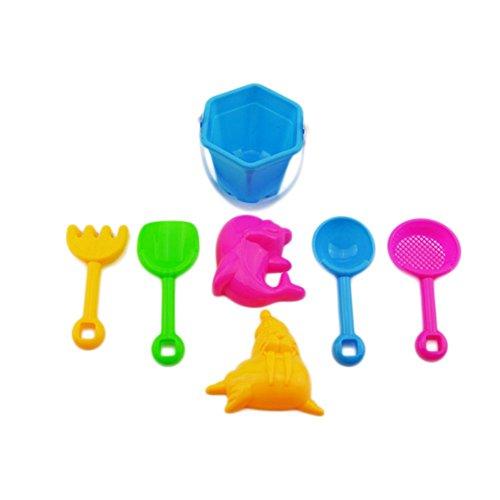 Vi.yo Juguete de Playa Set Plastic Castle Moldes Cubo Pala Pala Rastrillo Kettle niños Juguetes BPA...