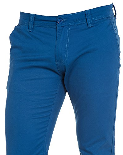 BLZ jeans - Pantalon chino bleu royal Bleu