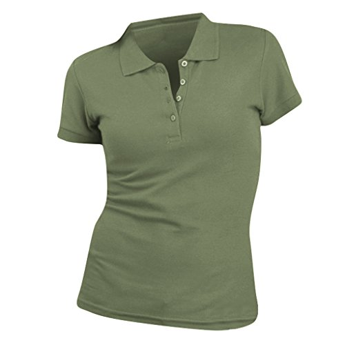 Baumwoll-piqué Khaki (SOLS People Damen Polo-Shirt, Kurzarm (Large) (Khaki))