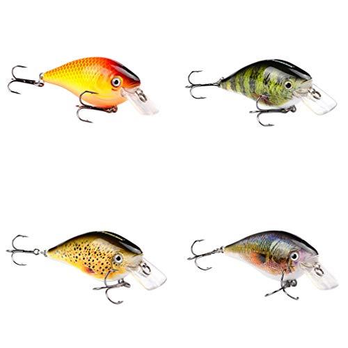 Geshiglobal - kit di esche artificiali per pesca con esche dure, 4 pezzi, multicolore