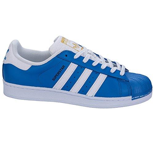 Adidas Superstar Schuhe ray blue-running white-runnning white – 45 1/3 - 4