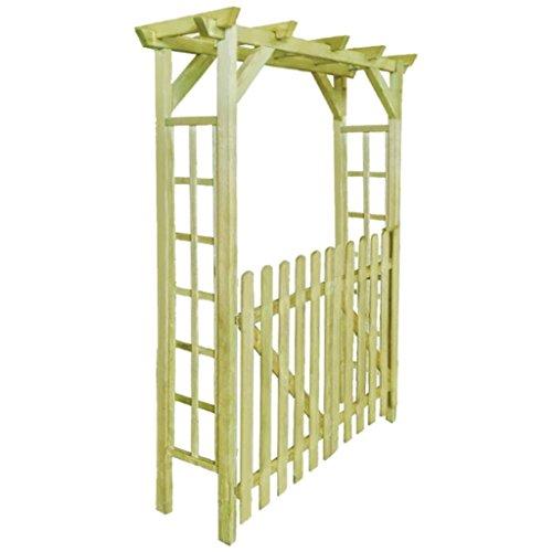 Shengfeng Gartenbogen/Tür für Rosen aus imprägniertem Holz 150 x 50 x 200 cm.Pergolat Gartenpavillon Pavillon für Den Außenbereich Pergolat