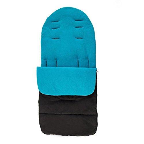 Bébé Universel footschild poussette poussette sac de couchage enfants voiture parapluie voiture pieds coupe-vent chaud padded coton Poussette (Bleu)