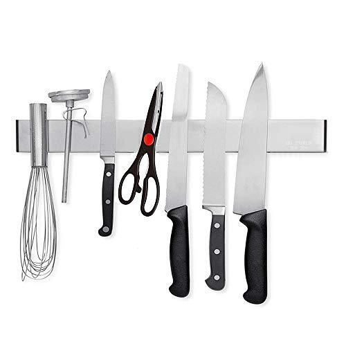 """Porte-couteaux, HG POWER Barre à Couteaux Aimantée, Acier Inoxydable Porte-Couteaux Magnétique pour Support ustensiles de Cuisine et Outils, 31cm (12"""")"""