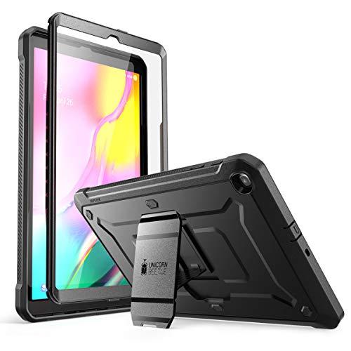 SupCase Hülle für Samsung Galaxy Tab A 10.1 2019 Schutzhülle 360 Grad Case Robust Cover [Unicorn Beetle Pro] mit Integriertem Displayschutz und Ständer (Schwarz) Schutzhülle Case