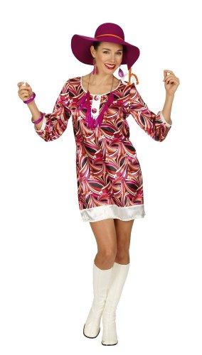 Das Kostümland Hippie Kleid Brigitte Gr. 44 - Twiggy Kostüm