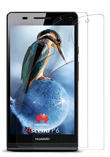moex 2X Huawei P6 | Schutzfolie Klar Bildschirm Schutz [Crystal-Clear] Screen Protector Display Handy-Folie Dünn Bildschirmschutz-Folie für Huawei Ascend P6 Bildschirmfolie