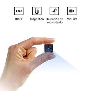camara de espia: Mini Camara Espia Oculta Videocámara, NIYPS 1080P HD Cámara Vigilancia Portátil ...